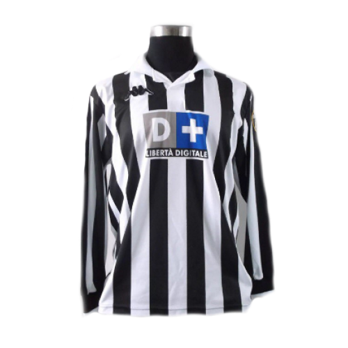 new arrival a210c c6533 Zidane Juventus shirt home with number 21 and long sleeve ...