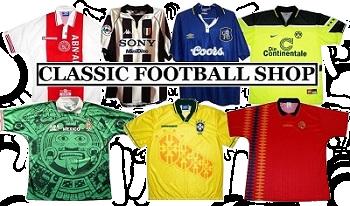 klassiska fotbollströjor